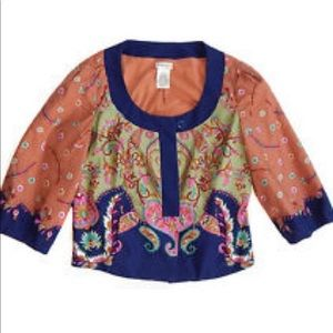 Anthropologie Elevenses Crop Jacket 3/4 Sleeves